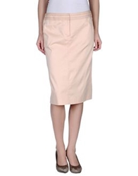 Mariella Rosati Knee Length Skirts Light Pink