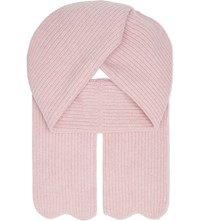Sandro Elyne Knitted Wool Scarf Rose