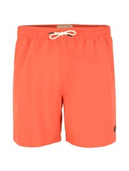Racing Green Baildon Plain Swim Shorts Coral