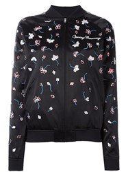 Opening Ceremony Embroidered Bomber Jacket Black