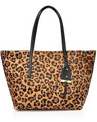 Botkier Madison Leopard Print Calf Hair Tote Leopard Gold