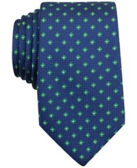 Nautica Men's Barge Textured Floral Pattern Classic Tie Green