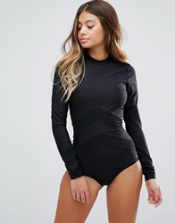 O'neill Mesh Insert Body Swimsuit Black Out
