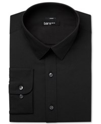 Bar Iii Men's Slim Fit Stretch Solid Dress Shirt Only At Macy's Black