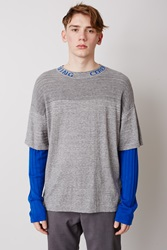 Opening Ceremony Double Layer Thermal Mockneck Heather Grey Multi