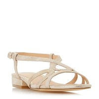 Head Over Heels Nebular Low Block Strappy Sandals Gold