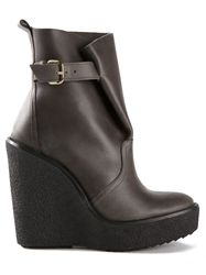 Pierre Hardy Chunky Wedge Boots Grey