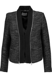 Sandro Verde Metallic Tweed Jacket Black