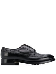 Silvano Sassetti Perforated Oxford Shoes Black