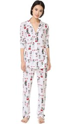 Love Grace Kittens And Puppies Cassie Pj Set White Red