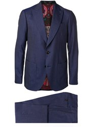 Etro Two Piece Formal Suit Blue