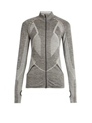 Lndr Base Long Sleeved Panelled Performance Jacket Light Grey
