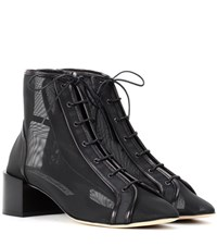 Acne Studios Mable Mesh Ankle Boots Black