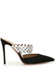 Aquazzura Heeled Satin Mules 60