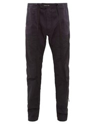 Fear Of God Nylon Panel Cotton Twill Trousers Navy
