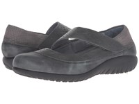 Naot Footwear Aroha Vintage Smoke Leather Tin Gray Leather Gray Iguana Nubuck Glass Women's Shoes