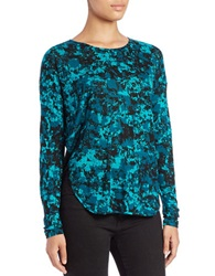 Kensie Printed Long Sleeve Shirt Deep Teal