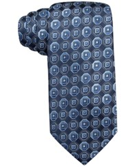 John Ashford Scott Medallion Tie Only At Macy's Blue