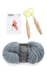 Women's David And Young 'Madison' Diy Infinity Scarf Kit Grey Heather Grey