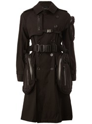 Undercover Multiple Removable Pockets Trench Coat Black