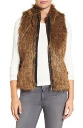 Foxcroft Women's Zip Front Faux Fur Vest Chocolate
