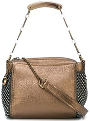 Laura B Bauletto Shoulder Bag Metallic