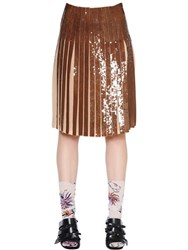 Emilio Pucci Pleated Sequins Georgette Skirt