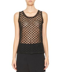 Carven Sheer Netted Shell Black