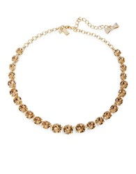 Kate Spade Fancy That Crystal Collar Necklace Brown