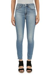 Articles Of Society Heather High Rise Skinny Cropped Jeans Blue