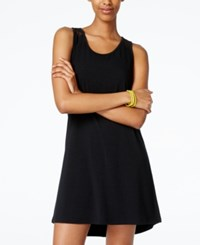 Material Girl Active Juniors' Mesh Racerback Shift Dress Only At Macy's Black