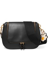 Anya Hindmarch Vere Canvas Trimmed Leather Shoulder Bag Black