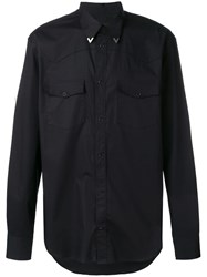 Roberto Cavalli Fringed Detail Shirt Black