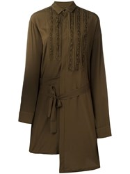 A.F.Vandevorst 'Dashboard' Shirt Dress Green