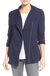 Women's Nydj French Terry Drape Front Moto Jacket