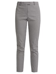 Altuzarra Henri Slim Leg Cotton Blend Trousers Black White