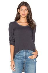 Bella Dahl Rib Neck Top Gray