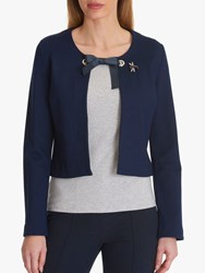 Betty Barclay Jacket With Brooch Peacoat Blue
