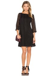 Michael Stars Lace Shift Dress Black