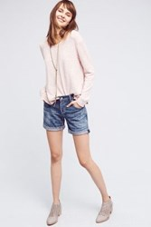 Anthropologie Citizens Of Humanity Skyler Low Rise Loose Shorts Tinted Denim