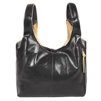 Fontanelli Black And Tan Reversible Italian Leather Handbag