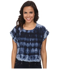Young Fabulous And Broke Tyler Top Dark Navy Women's Short Sleeve Pullover