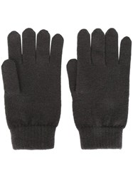 N.Peal Ribbed Gloves Grey