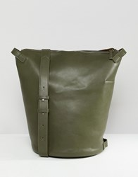 French Connection Rita Clean Minimalism Backpack Dsty Olive Shny Slvr Green