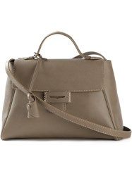 Myriam Schaefer Square Shaped Tote Nude And Neutrals