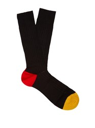 Pantherella Portobello Cotton Blend Socks Black