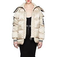 Off White C O Virgil Abloh Satin Puffer Coat Beige Tan Beige Tan