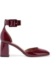 Red Valentino Patent Leather Pumps Burgundy