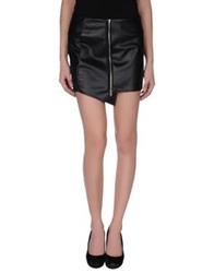 Andrea Morando Mini Skirts Black