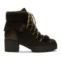 See By Chloe Brown Eileen Heeled Boots